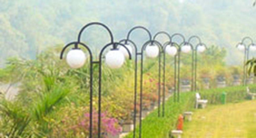 Thi công hệ thống điện chiếu sáng khu biệt thự nhà vườn Quang Minh – Vĩnh Phúc