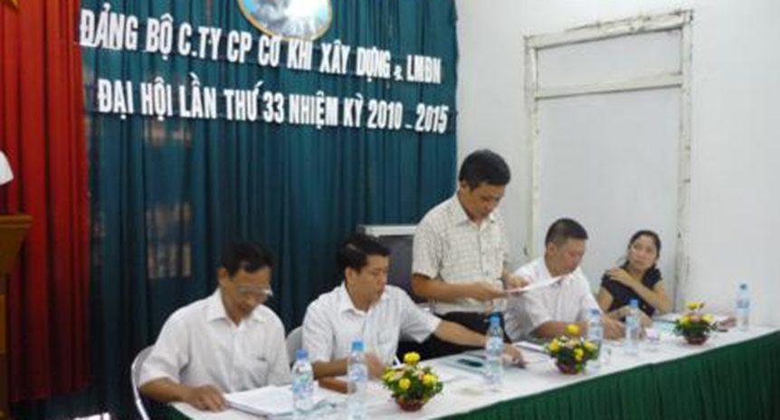 Đại hội Đảng bộ Công ty lần thứ 33 (2010 – 2015)