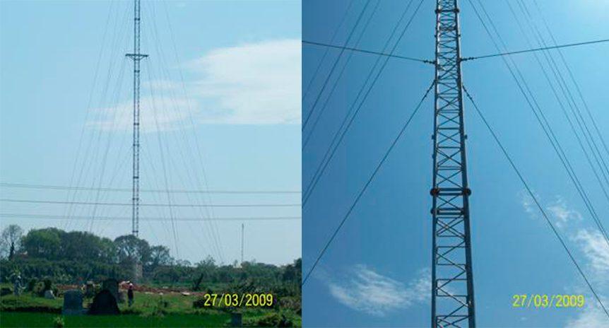 Lắp dựng cột an ten viễn thông GBT cho dự án của Vietnamobile